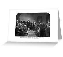 Washington Delivering His Inaugural Address Greeting Card