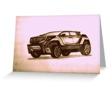 New Concept SUV Greeting Card