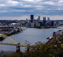 Pittsburgh Skyline showing Heinz Field by Michelle Joseph-Long