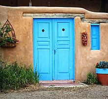 Blue Doors & Windows of Taos by Lucinda Walter