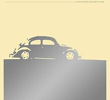 Volkswagen Beetle - Silver on light by uncannydrive