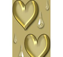 GOLDEN HEART TEARDROP IPHONE CASE by ╰⊰✿ℒᵒᶹᵉ Bonita✿⊱╮ Lalonde✿⊱╮