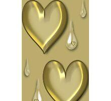 GOLDEN HEART TEARDROP IPHONE CASE by ╰⊰✿ℒᵒᶹᵉ Bonita✿⊱╮ Lalonde✿⊱╮