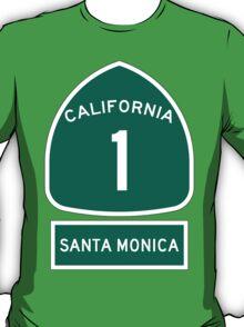 PCH - CA Highway 1 - Santa Monica T-Shirt