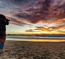 Shooting the sunset at Byron Bay by Cheryl Styles