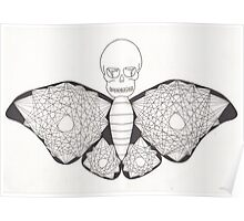 Mandala Death Moth Poster