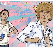 Gail Macintyre gets pelted by peanuts by David Platt by pickledjo