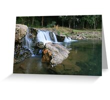 Causeway Crossing - Upper Crystal Creek .. Greeting Card