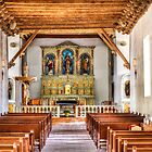Socorro Mission - Interior View by Ray Chiarello