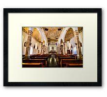 San Elizario Chapel - Interior View Framed Print
