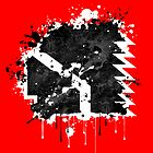 Thompson Wrestling Splatter Logo by popnerd