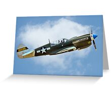 White-tail Warhawk on the up Greeting Card