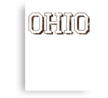 Block Letter Ohio Canvas Print