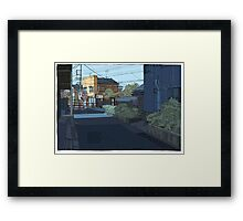 Laneway Crows Framed Print