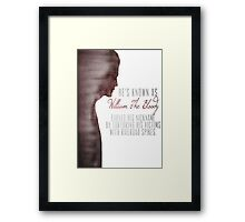 "William ""The Bloody"" Pratt - Spike - Framed Print"