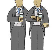 Gay grooms civil partnership. by KateTaylor