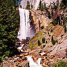 Vernal Falls along the Mist Trail, Yosemite Valley, California, USA by TonyCrehan