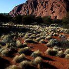 Dream Time Warriors  -  North Face Uluru  Oz by john  Lenagan