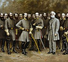 Robert E. Lee and His Generals -- Civil War by warishellstore