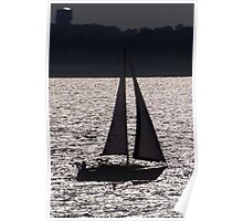Backlit boat Poster