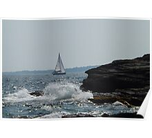sailboat splash Poster
