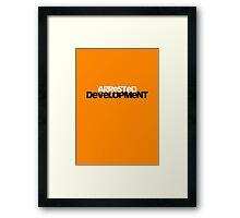 Arrested Deveopment Poster - orange Framed Print