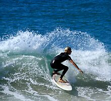 Surfing Duranbah Beach by Noel Elliot