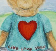 Live Love Yoga Bear  Sticker