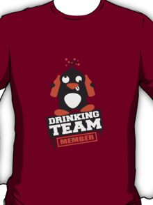 Drinking Team Member Penguin T-Shirt