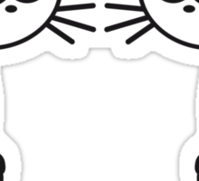 Comic Cats Sticker