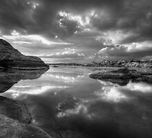 Granite Monsoon BW by Bob Larson