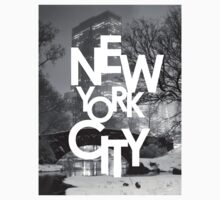Gapstow Bridge and New York City by Randy  Le'Moine