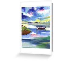Boat n Colors Greeting Card