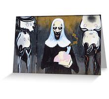 Alien Nun Greeting Card