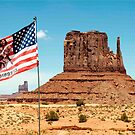 The Flag Fying in Monument Valley by philw