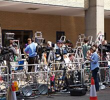 The media await the new royal arrival by Keith Larby