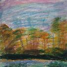 Pastel Sunset on the Riverbank by Alison Pearce
