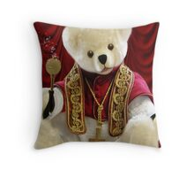 † ❤ † POPE BEAR SPRINKLES BLESSINGS TO ALL † ❤ † Throw Pillow