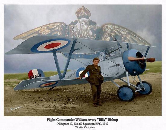 WW I Ace Billy Bishop by A. Hermann
