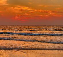 HOPEMAN BEACH FULL MOON SUNSET by JASPERIMAGE