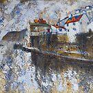 Rain, Staithes by Sue Nichol
