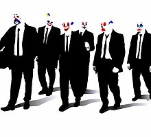 Bank Robber Goons Reservoir Dogs  by justin13art