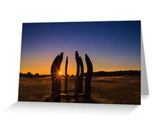 Sunset for all.. Greeting Card