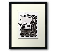 London Post Stamp Framed Print