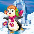 penguin on the skates by SVETLANA ZOLOTAREVA