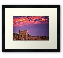 Ft Churchill Sunset Framed Print
