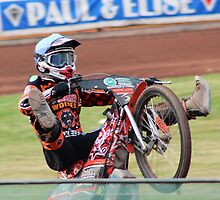 Jacob Thorssell doing wheely by Emma Richards