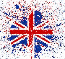 UK Union Jack Splash Colors Flag T-Shirt / Print / iPad & iPhone Case  / Samsung Galaxy Cases  by CroDesign