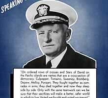 Admiral Nimitz -- Speaking For America by warishellstore