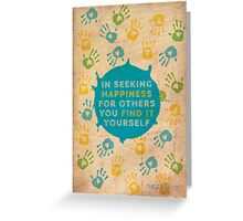 Helping others... Greeting Card